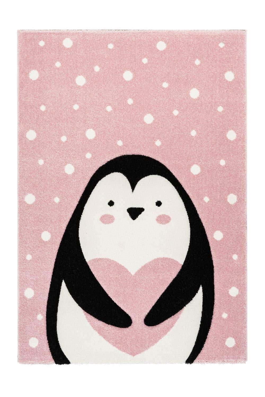 One Couture Kinderteppich Pinguin Tier Motiv Herz Herz Herz Kinderzimmer Teppich Bunt Rosa Weiß, Größe 120cm x 170cm B07NDTYWM1 Teppiche & Lufer 109750