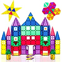 Playmags 100-Piece Colorful Tile Set, Unique Award-Winning Magnetic Building Tiles for Kids, Creativity and Educational…