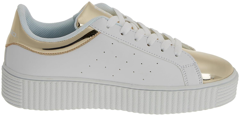 bass3d Women's 041271 Sneakers Gold Size: 6.5: Amazon.co.uk: Shoes & Bags