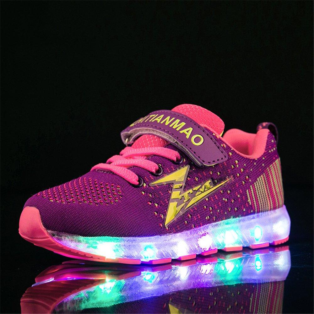 A2kmsmss5a Air Cushion Shoes USB Charging Flashing Fashion Sneakers for Kids Boys Girls