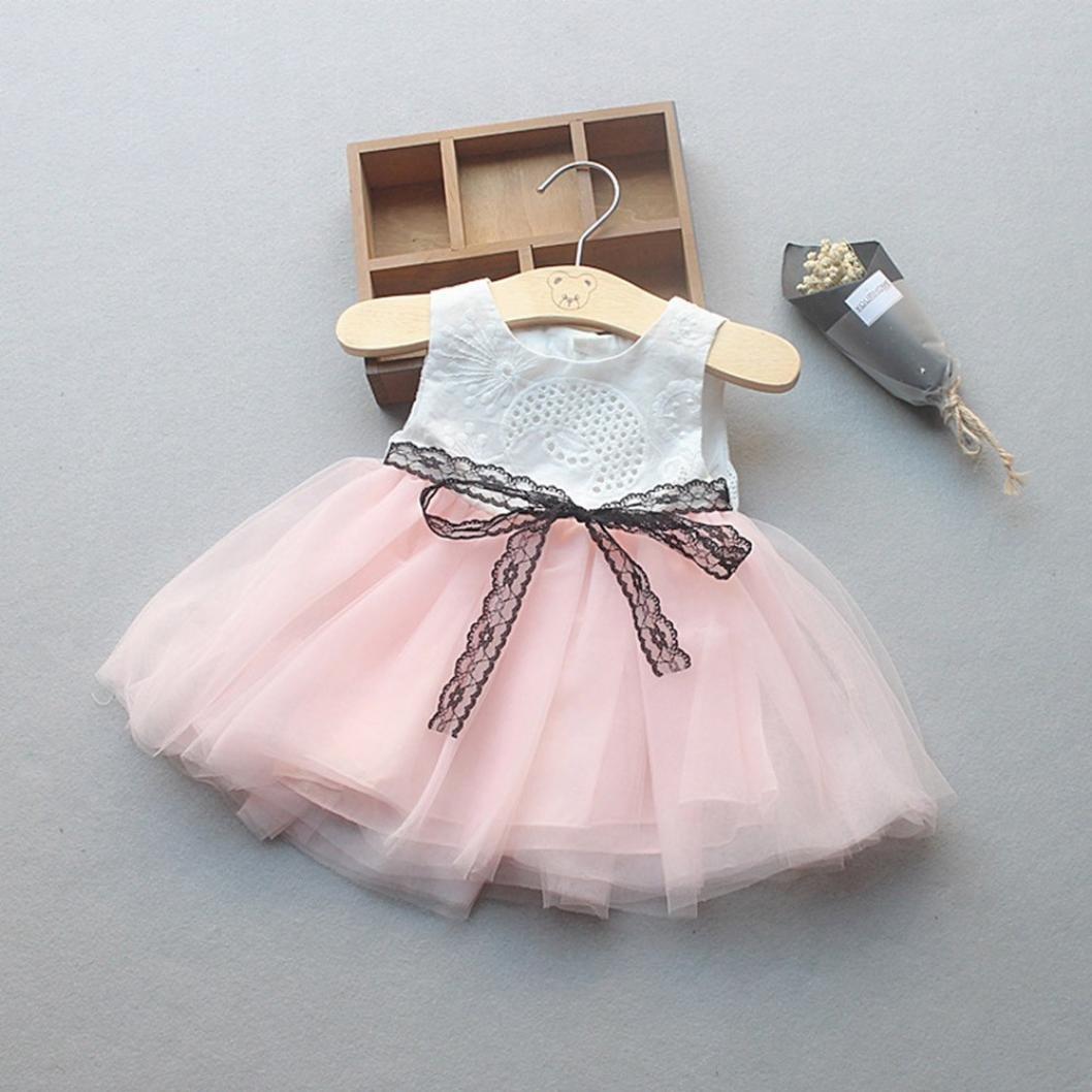 167575da4 Vestido Bebe Niña K-youth® Lindo Ropa Bebe Niña Recien Nacido Verano 2018  Vestido de ...