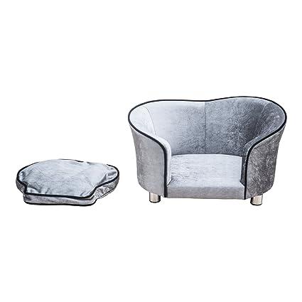 PawHut-Sofá sofá-cama de lujo para perros domésticos y animales 69 x 49