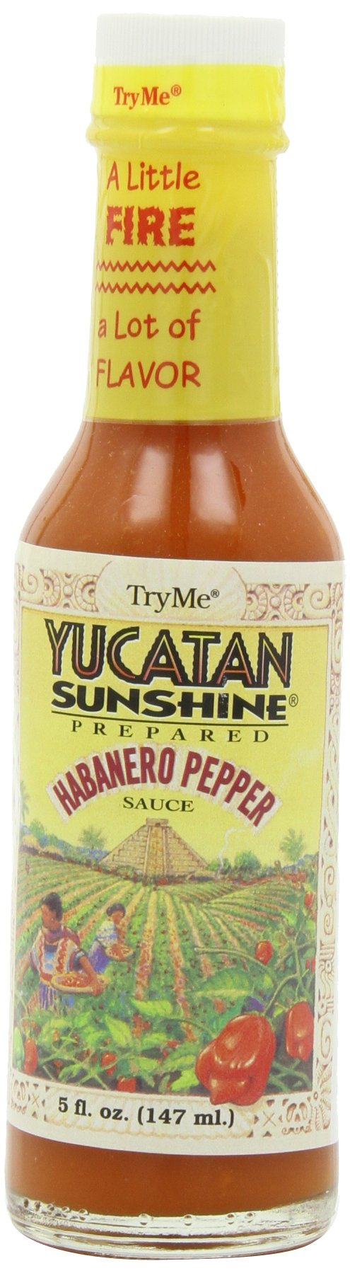 Try Me Yucatan Sunshine Habanero Pepper Sauce, 5-Ounce Bottles (Pack of 6)