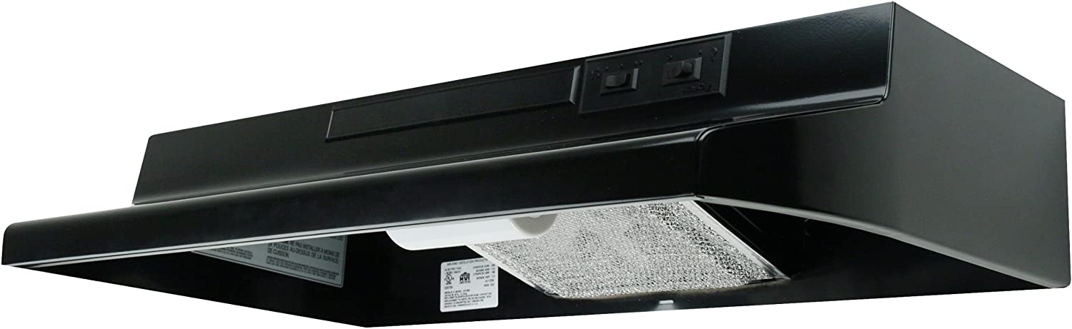 Air King AD1216 Advantage Ductless Under Cabinet Range Hood with 2-Speed Blower, 21-Inch Wide, Black Finish