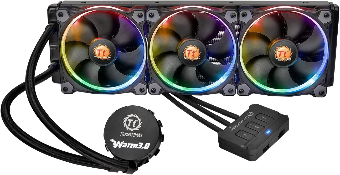 Thermaltake Water 3.0 Triple Riing RGB High Static Pressure Fans 360 AIO Liquid Cooling System CPU Cooler CL-W108-PL12SW-A