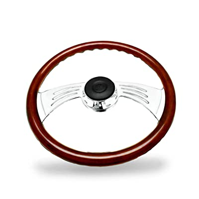Woody's WP-SWPB9801.2W Rosewood Chrome Truck Steering Wheel (Beautiful African Hardwood): Automotive