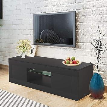 WISFORBEST Mueble TV LED Mueble de Salón Moderno Gabinete para ...