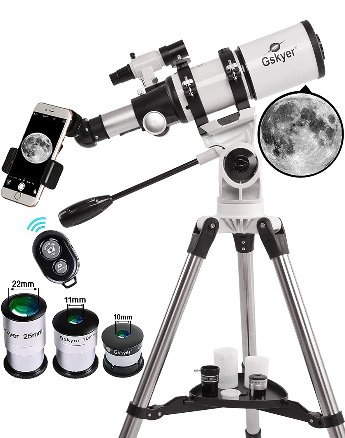 Gskyer Telescope, Travel Scope, 70mm Aperture 400mm AZ Mount Astronomical Refractor Telescope