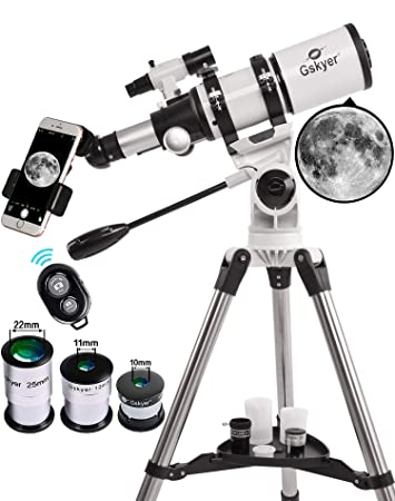 Gskyer Telescope, 80mm AZ Space Astronomical Refractor Telescope, German  Technology Scope