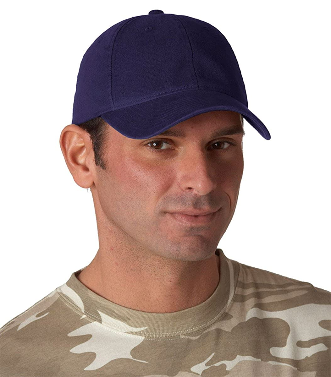 f574d19b1bb Amazon.com  Flexfit 6997 Low Profile Garment Washed Cotton Cap - Small  Medium (Navy)  Clothing