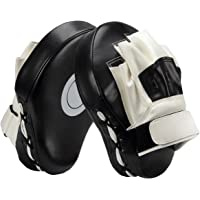 PAMASE Boxing Leather Punch Focus Mitts - Target Training Hand Pads for Karate, Muay Thai Kick, Sparring, Dojo, Martial Arts