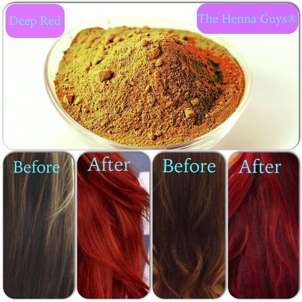 Amazon Com Deep Red Henna Hair Beard Color Dye 3 Pack The