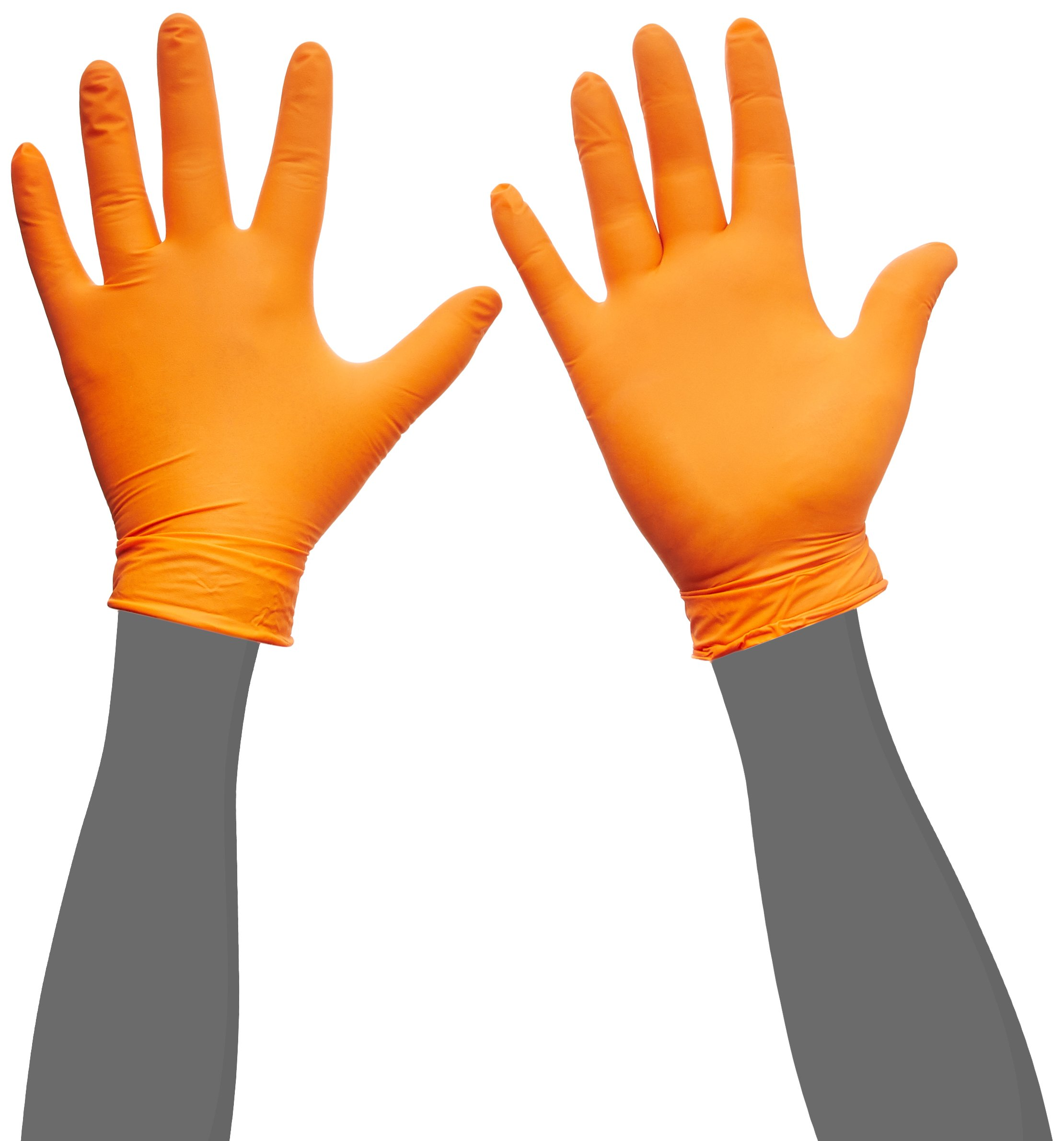 KBS Coatings OR-M Orange Medium Lightning Nitrile Gloves, (Pack of 50)
