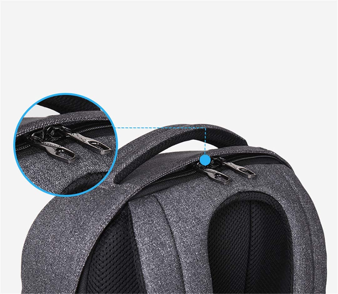 15.6Inch Laptop USB Recharging Backpacks Travel Male Mochilas Schoolbag For Boys Grey 16 inch