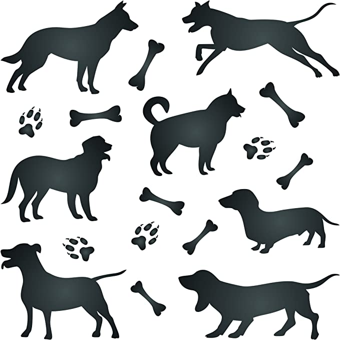 14 Mil Mylar Plastic Stencil Stop French Bulldog Dog Silhouette Stencil 2 x 1.5 inches