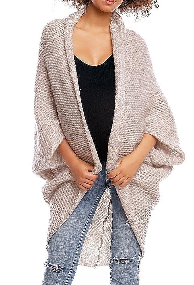 Happy Mama. Women's Maternity Knit Cocoon Cardigan Dolman Sleeve Pregnancy. 364p ONE Size - FITS All) pregcardi_364_6