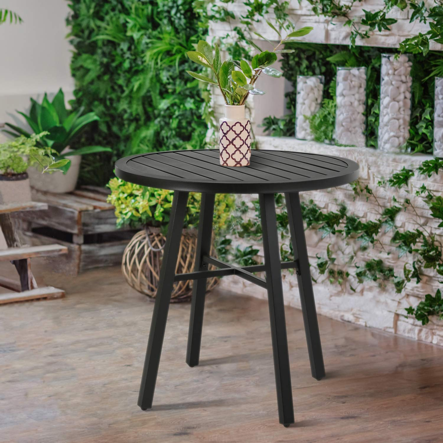 Ulax furniture Outdoor Round Side Table, Patio Coffee Bistro Table by Ulax furniture (Image #2)