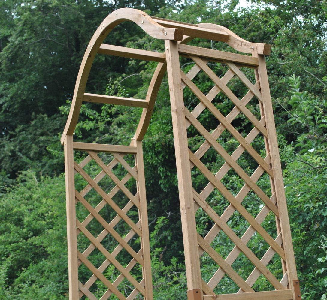 Elegante arco de jardín de madera con picos para tierra: Amazon.es: Jardín