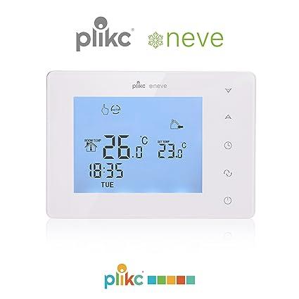 Plikc - Termostato con temporizador semanal digital, modelo Neve PLK267610