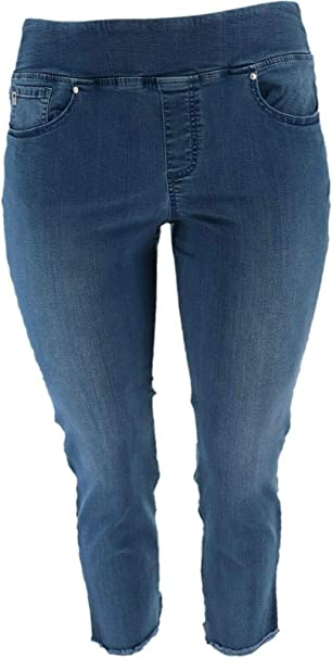 Belle by Kim Gravel Womens Regular Flexibelle Jeggings 10 Medium Wash A350472