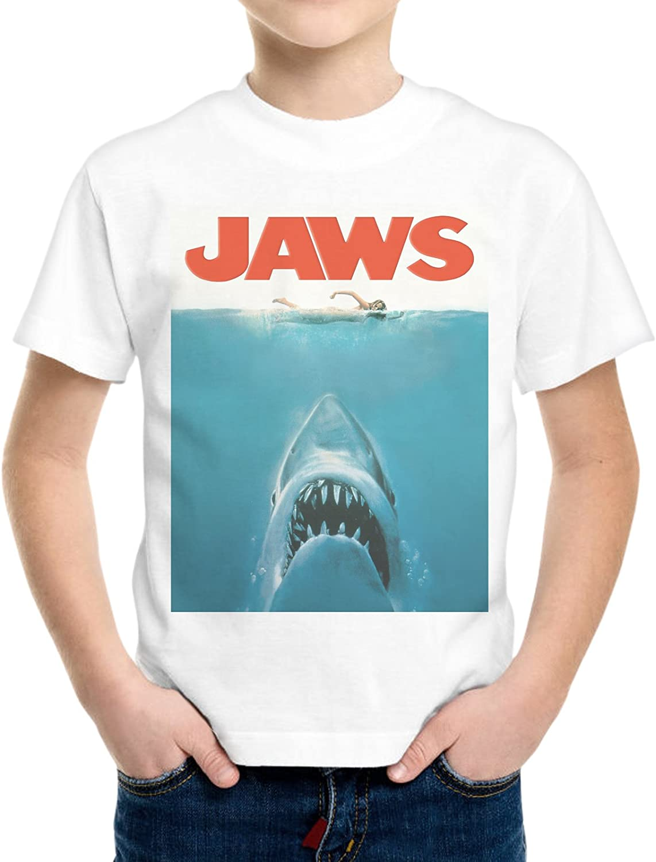 Camiseta Niño Niño Jaws Shark Tiburón Danger Película Póster -