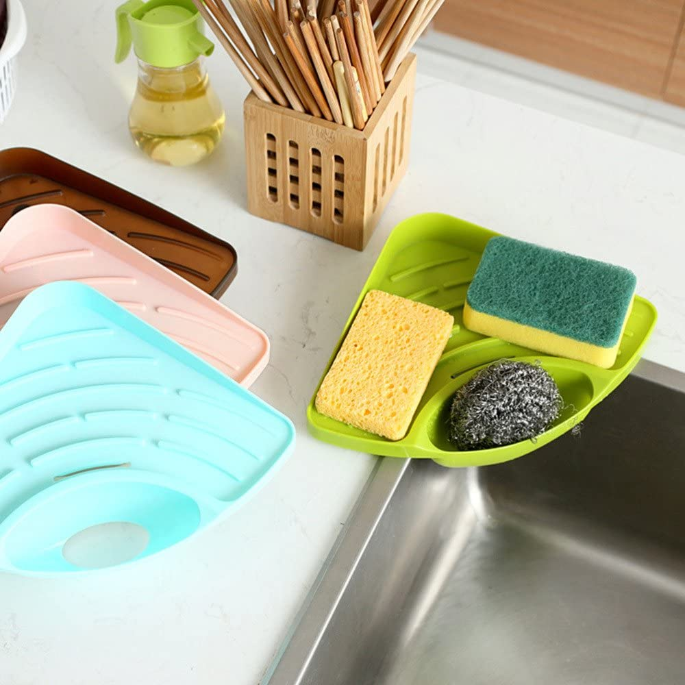 Generic Pink Cangdy Color Kitchen Sink Corner Storage Rack Sponge Holder Wall Mounted Tank Cleaning Sponge Drainboard Bathroom Accessories Amazon Co Uk Kitchen Home