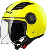 305625053XXL - LS2 OF562 Airflow L Solid Open Face Motorcycle Helmet XXL H-V Yellow