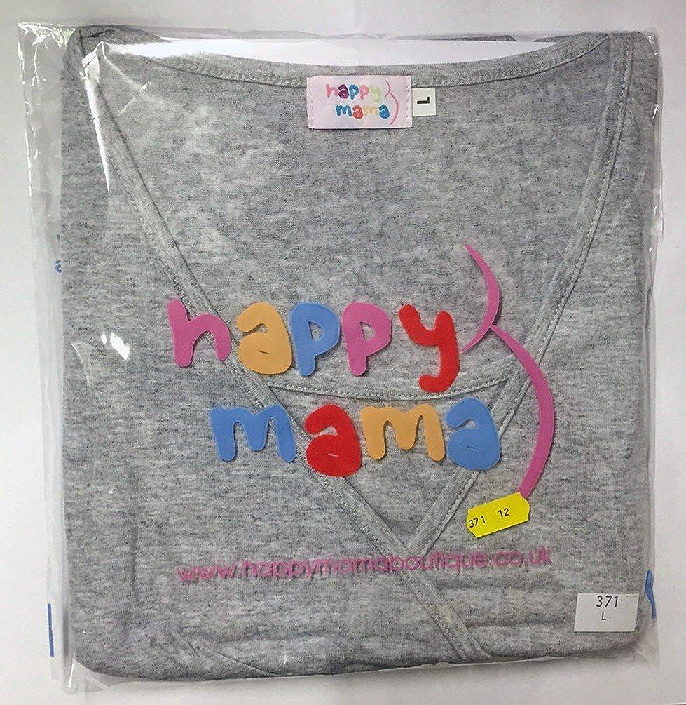 369p HAPPY MAMA Damen Still Umstands-Top Lagendesign Farbblock-Design /Ärmellos