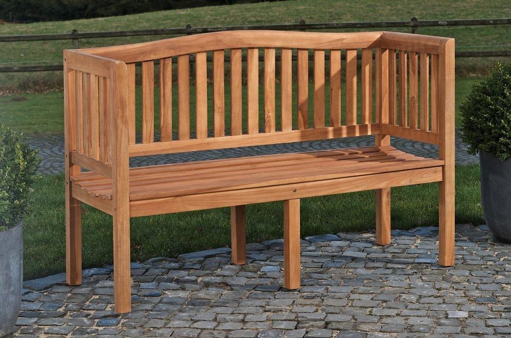CLP Teakholz-Gartenbank Marvel V2 mit Lehne I Holzbank für den Garten I In verschiedenen Größen wählbar 200 cm