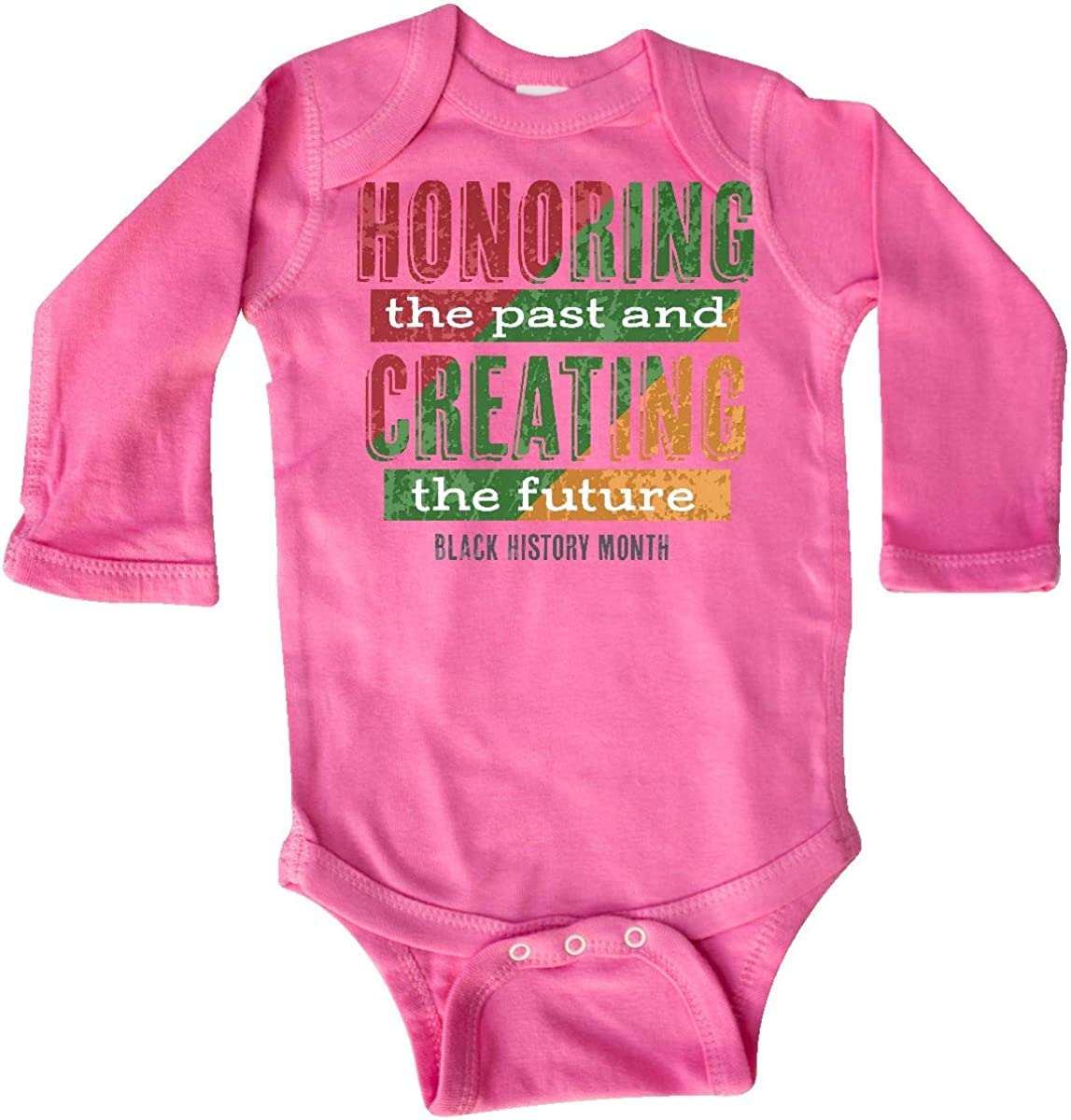 inktastic Honoring The Past and Creating The Future Black Long Sleeve Creeper