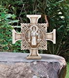 Avalon Gallery Saint Benedict Stoneresin Garden Cross Stepping Stone, 11 Inch