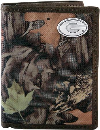 Camouflage NCAA Georgia Bulldogs Zep-Pro Fencerow Nylon Trifold Concho Wallet