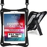 Cooper Trooper 2K Rugged Case for 10-10.4'' Tablet   Tough Bumper Protective Drop Shock Proof Kids Holder Carrying Cover Bag,