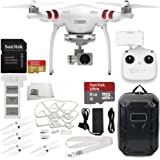 DJI Phantom 3 Standard with 2.7K Camera and 3-Axis Gimbal & Manufacturer Accessories + DJI Propeller Set + Water-Resistant Hardshell Backpack + MORE