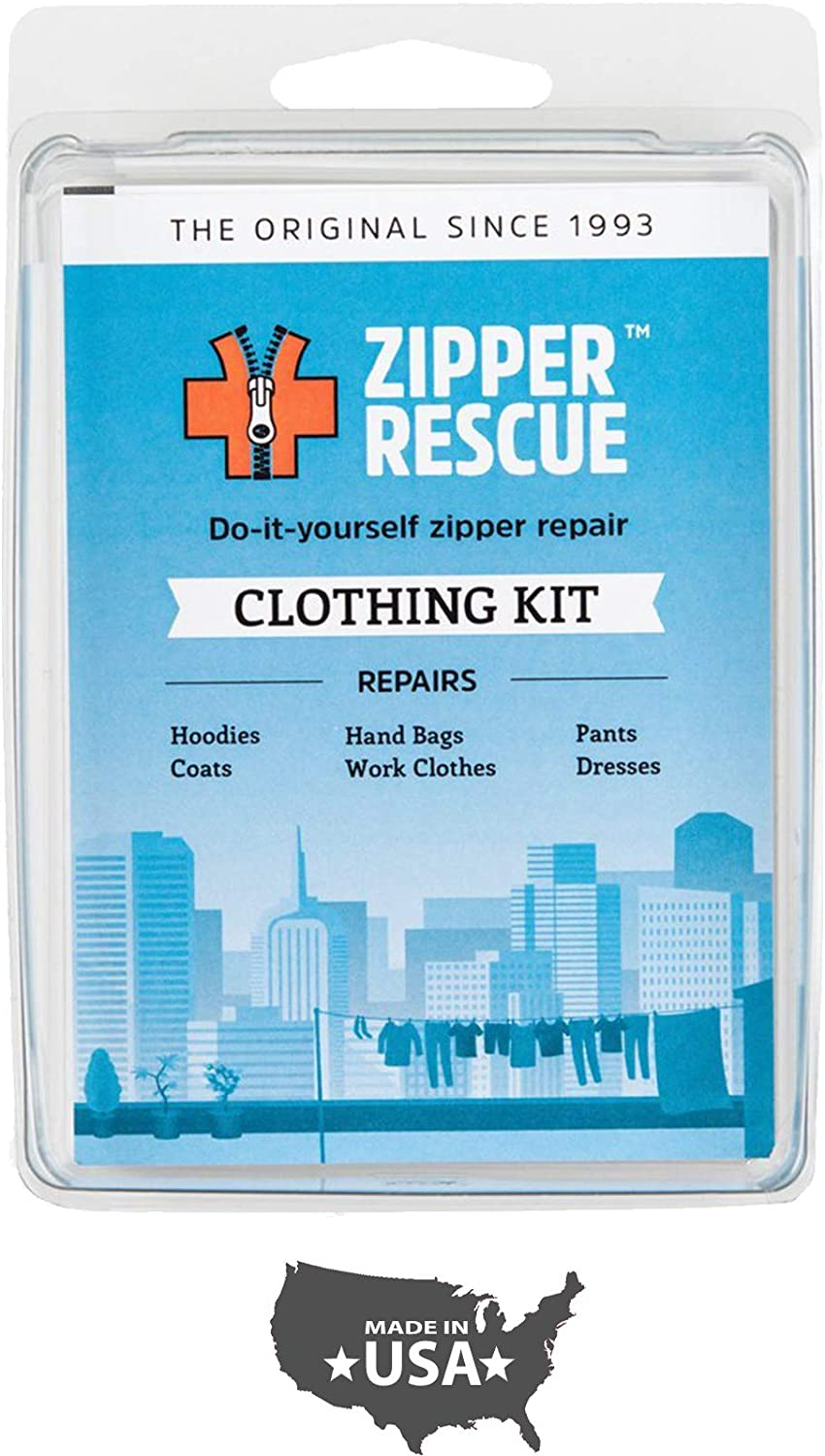 B0001DUQFU Zipper Rescue Zipper Repair Kits – The Original Zipper Repair Kit, Made in America Since 1993 (Clothing) 717tj4Gtr6L