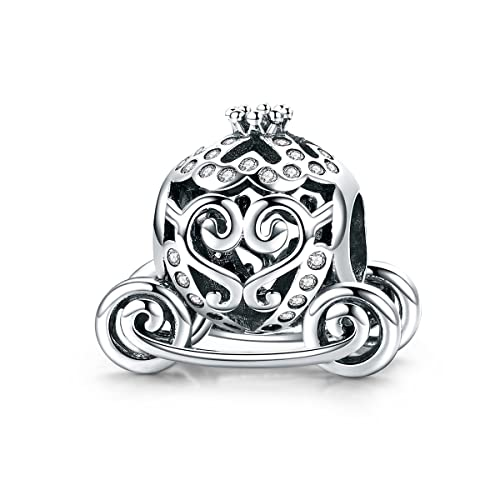 Lily Jewelry Carro de calabaza princesa 925 plata esterlina grano Fits Pandora europeo pulsera: Amazon.es: Joyería