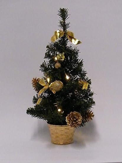 Best Season Weihnachtsbaum,10 warmweisse LED, Dekoration, Plastik Grün 18 x 18 x 45 cm