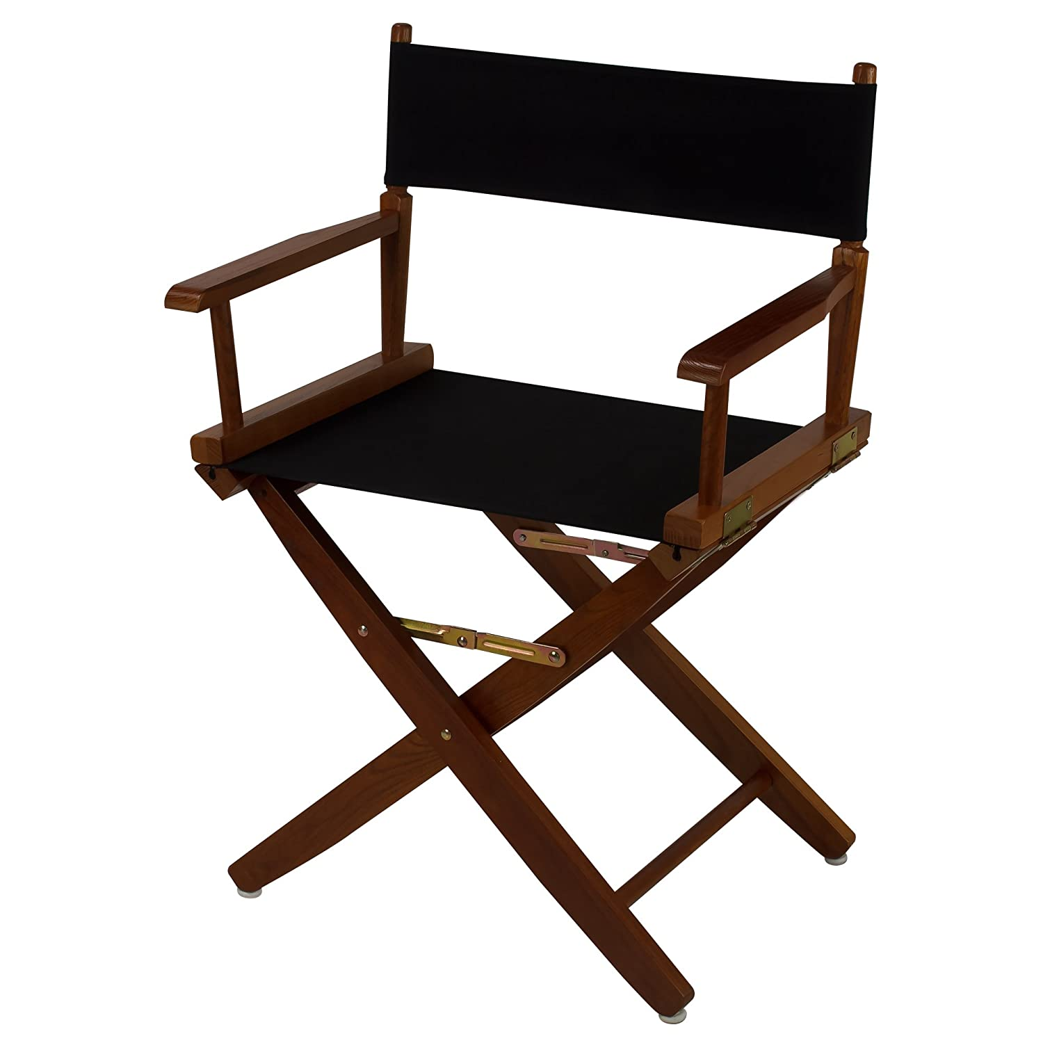 American Trails Extra-Wide Premium 18 Director's Chair Natural Frame with Black Canvas 206-00/032-15
