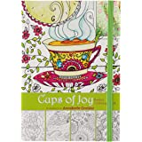 """""""Cups of Joy"""" Pocket Edition Inspirational Adult Coloring Book"""