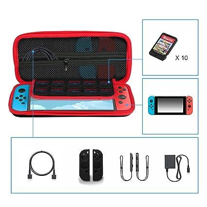 Leepesx Estuche de Transporte para Nintendo Switch con 10 ...