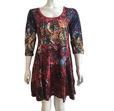 1ff23b7ead Gringo Size 8 10 12 Dress Red Goddess Tie Dye Ethnic Fairtrade Boho Hippy