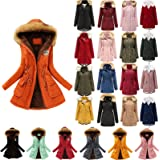 Winter Coats for Women Plus Size Thick Fleece Lined Plush Hooded Windproof Warm Down Outerwear Jackets Parka