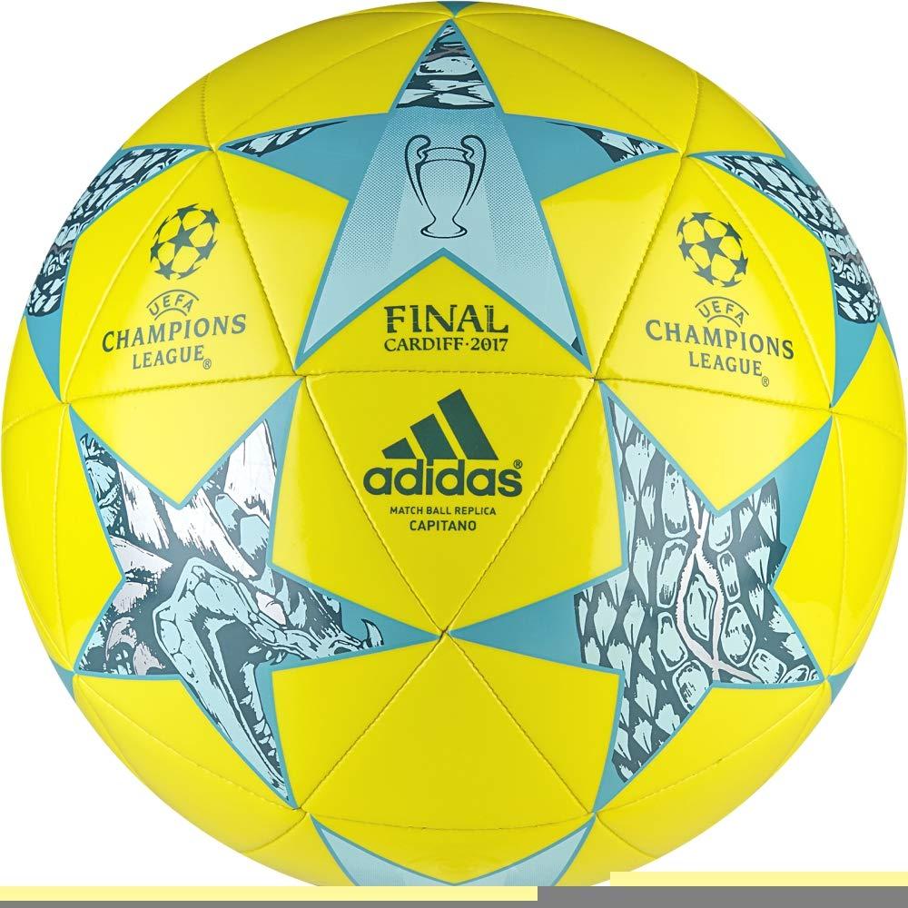 Adidas Finale CDF Cap Balón de Fútbol, Hombre, (Blanco/Azumis / Turque), 5 AZ5204