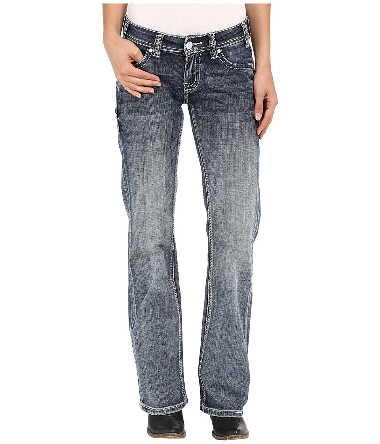 Rock and Roll Cowgirl Women's Riding Bootcut Light Vintage Jean, 32 X 32