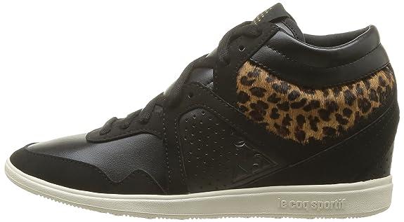 Le Coq Sportif Monge Leopard Compensée Chaussures