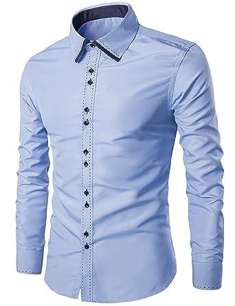 5b74d1ae03b69 Tzou 重ね着風 メンズ Yシャツ ビジネス ワイシャツ 形態安定 無地 長袖白Yシャツ