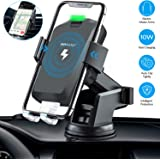 Wireless Car Charger Mount, OOWOLF 10W 7.5W Automatic Clamping Qi Fast Charging Car Mount Windshield Dashboard Air Vent Phone Holder Compatible with iPhone Xs Max XR X 8, Samsung Galaxy S10 S9 S8 Note