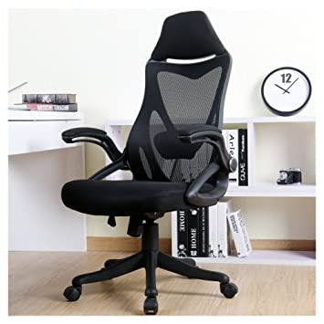 BERLMAN Ergonomic High Back Mesh Office Chair With Adjustable Armrest  Lumbar Support Headrest Swivel Task Desk