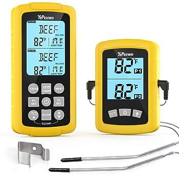 Yepexwo Digital Waterproof 328 Feet Wireless Meat Thermometer