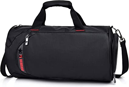 Elephant Sports Gym Bag with Shoes Compartment Travel Duffel Bag for Men and Women